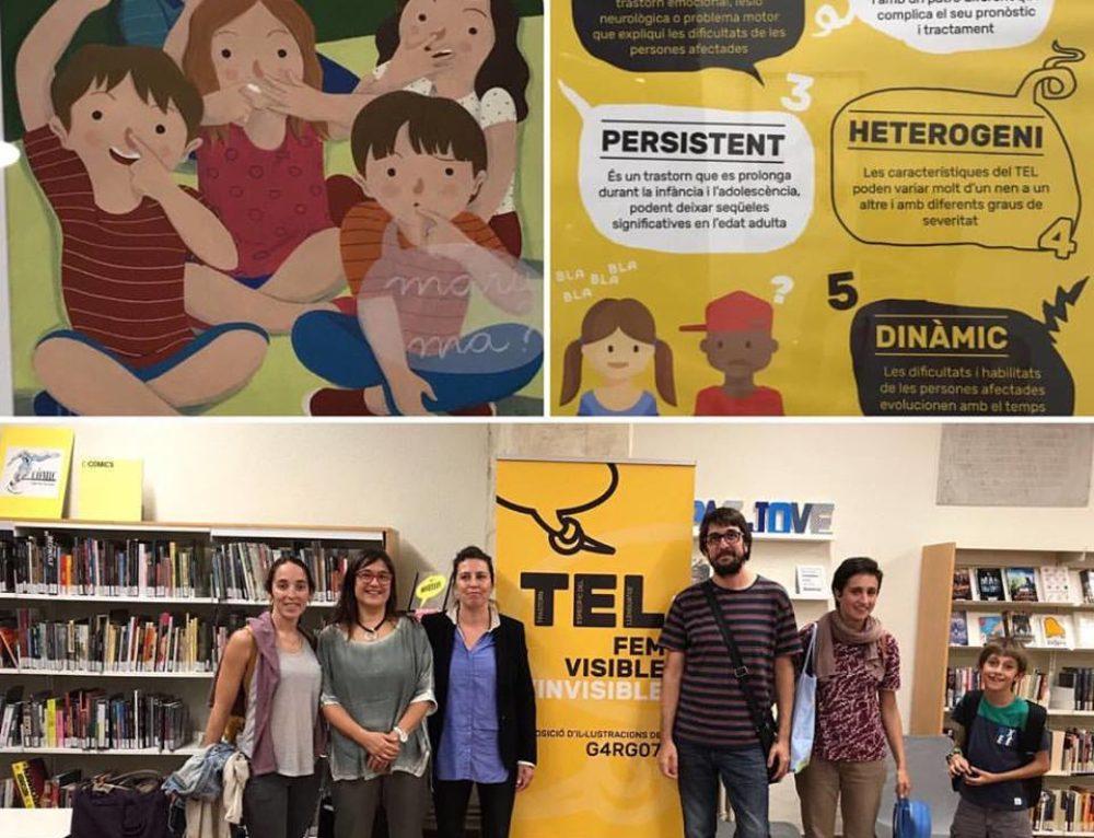 Lídia Rigual, xarla divulgativa sobre el TEL, acompañada de Susana Lozano, presidenta de Atelca