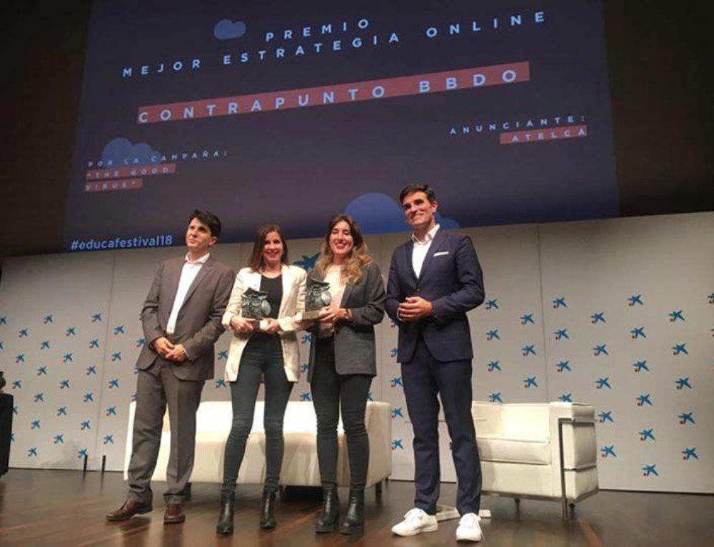 La campaña 'The good Virus' para Atelca ha conseguido 3 bronces en la II edición del Festival Internacional de Publicidad Educativa Educafestival